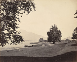 Path by the Dal Lake at Nazib Bagh, Srinagar